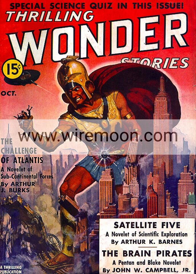 Wonder Stories October 1938