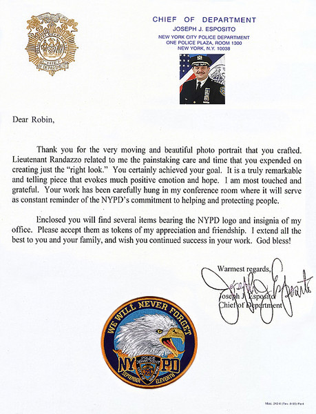 LETTER FROM CHIEF ESPOSITO NYPD