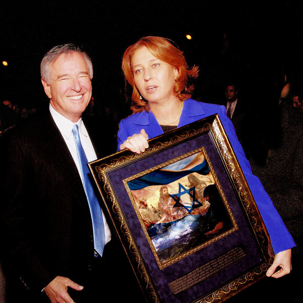 ISRAEL'S FOREIGN MINISTER TZIPI LIVNI<br /> WITH DAN GORDON