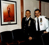 NYPD CHIEF JOE ESPOSITO with CHIEF'S LIEUTENANT JOE RANDAZZO and  'TRIBUTE TO AN OFFICER'  IN NYPD CONFERENCE ROOM