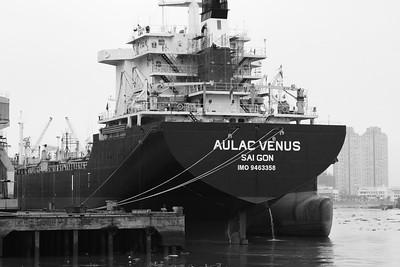 The Aulac Venus Docked on the Saigon River, Saigon Vietnam