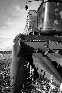 Corn Combine After Harvest