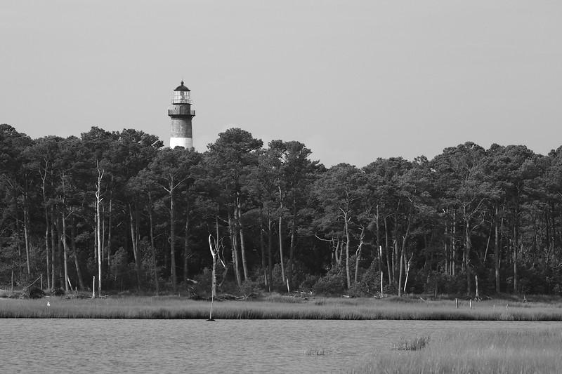 Assateague Island Inlet with Lighthouse, NC