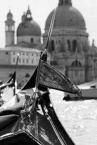 Flag on Bow of Gondola, Venice Italy