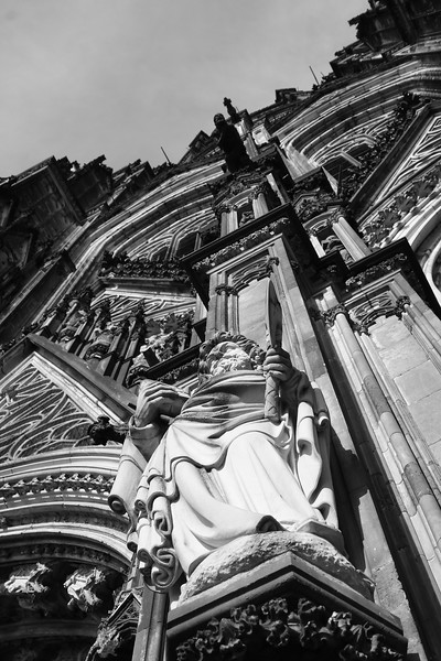 Apostle Statue on Dom Cathedral, Cologne Germany