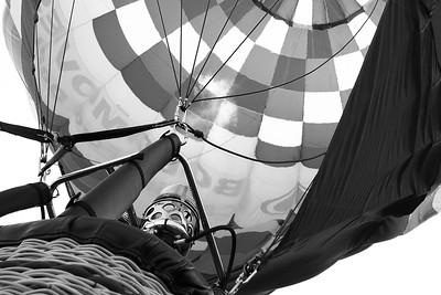 Hot Air Balloon Inflating