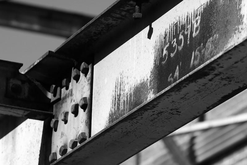 Rusty Steel I Beam Abandoned Warehouse, Statesville NC