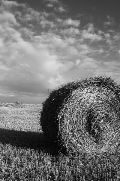 Hay Bale Against Sky