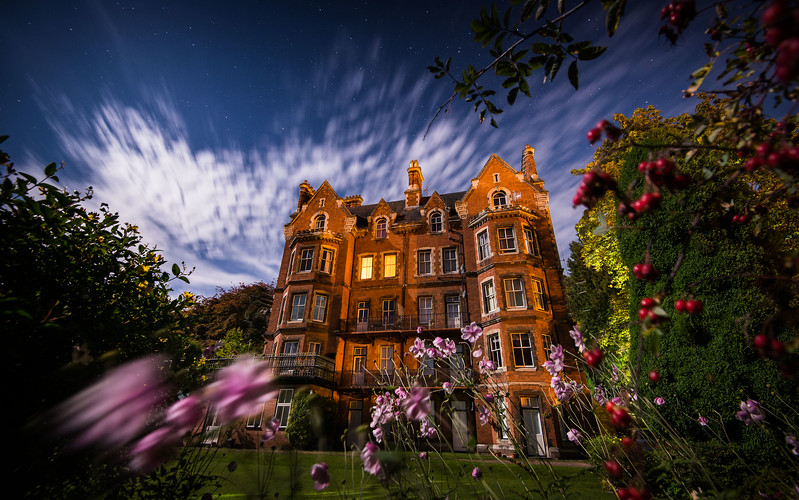 Malvern House in Full Moon Light