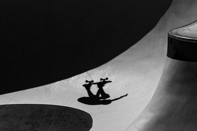 Skateboarder shadow