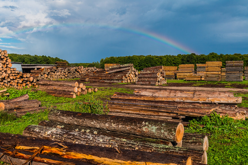 The Henschel Farm and Sawmill in Carlsville, Door County, WI. Photo by Len Villano.