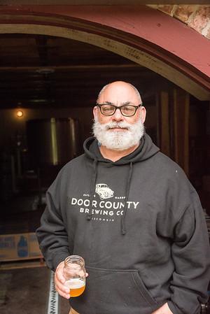 The McMahon's at Door County Brewing Company in Baileys Harbor, Door County, Wisconsin. Photo by Len Villano.
