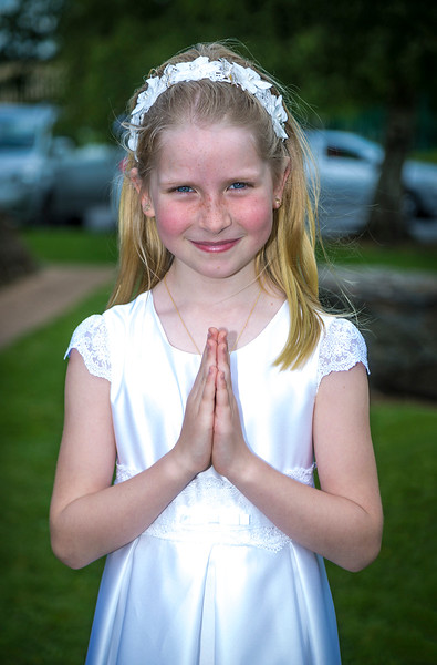 EEEjob 27/05/2017 First Communion at Christ of our Light Church, Ballincollig . Pictured,  Anna Linger from Tower  after receiving her first communion at Christ of Our Light Church, Ballincollig on Saturday.  Picture: Andy Jay
