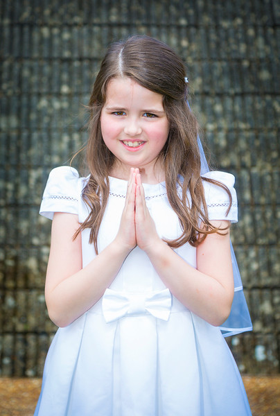 EEEjob 27/05/2017 First Communion at Christ of our Light Church, Ballincollig . Pictured,  Keelagh Farry from Ballincollig after receiving her first communion at Christ of Our Light Church, Ballincollig on Saturday.  Picture: Andy Jay