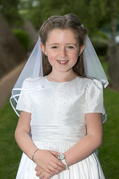 EEEjob 27/05/2017 First Communion at Christ of our Light Church, Ballincollig . Pictured,  Aoibhe Kearney from Ballincollig after receiving her first communion at Christ of Our Light Church, Ballincollig on Saturday.  Picture: Andy Jay
