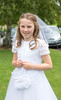 EEEjob 27/05/2017 First Communion at Christ of our Light Church, Ballincollig . Pictured, Kate O'Brien from Ballincollig after receiving her first communion at Christ of Our Light Church, Ballincollig on Saturday.  Picture: Andy Jay