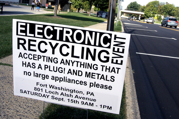 Electronics Recycling at UD Township Building