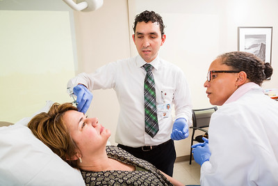 Luis A. Dehesa, M.D. demonstrates facial injections.