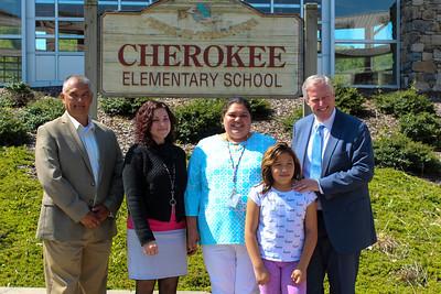 Congressman Meadows visits Cherokee Elementary, May 2