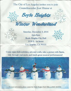 12-3-2016 WINTER WONDERLAND - BOYLE HEIGHTS