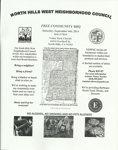 9-6-2014 North Hills West Neighborhood Council Community BBQ