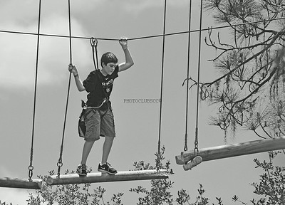 PRINT - MONOCHROME - ADVANCED - 1ST PLACE - ONE STEP AT A TIME - GINA HEBERT