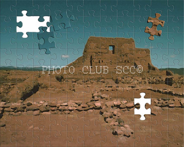 DIGITAL - CREATIVE - 1ST PLACE - PECOS PUEBLO PUZZLE - ROBERT PRICE