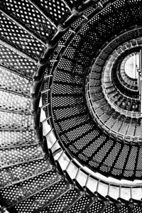 DIGITAL - MONOCHROME - ADVANCED - 1ST PLACE - LIGHTHOUSE STAIRS - BOBBIE RAY