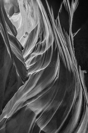 PRINT-MONO-2ND PLACE-WINDS THROUGH ANTELOPE CANYON-BRUNO GRAZIANO