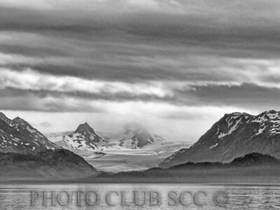 MONOCHROME PRINT - LEVEL 1 - 1ST PLACE - KENAI GLACIER - BEV SHACKELFORD
