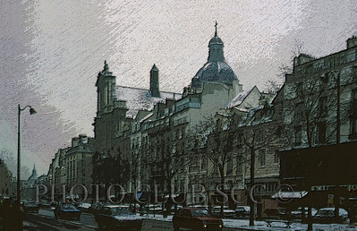 CREATIVE DIGITAL - GOLD - SNOW SHOWERS OVER ST. PAUL'S - ROBERT PRICE