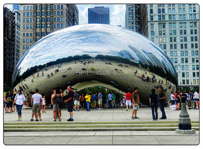 PRINT - COLOR - LEVEL 2 - SILVER - THE BEAN IN CHICAGO, IL - ROSE STACK