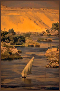DIGITAL - CREATIVE - GOLD - DUSK ON THE NILE - VICKI BREAUGH