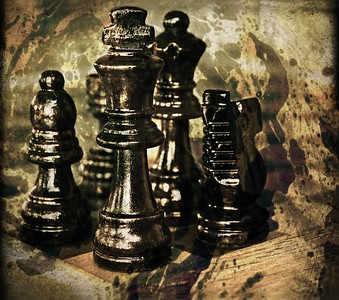 DIGITAL - CREATIVE - GOLD - CHESS - THE DARK SIDE - GINA HEBERT