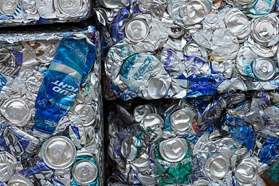 DIGITAL - COLOR - ADVANCED - 2ND PLACE - SCRAP: CRUSHED CANS - CHERYL LEVIN