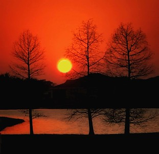 DIGITAL-COLOR-MASTER-SILVER-POND SUNSET-STAN LIPSKI