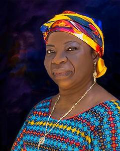 PRINT-COLOR-MASTER-GOLD-MY AFRICAN MONA LISA-JACKIE HANSEN