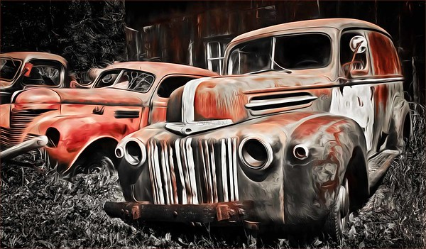 DIGITAL-CREATIVE-SILVER-JUNKYARD BEAUTIES-CAROL FELDHAUSER