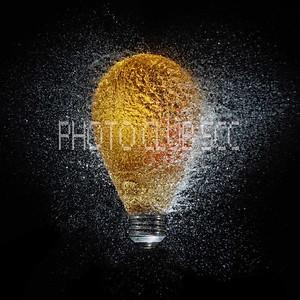 DIGITAL-CREATIVE-GOLD-POP GOES THE LIGHT BULB-GAYLE FISCHER