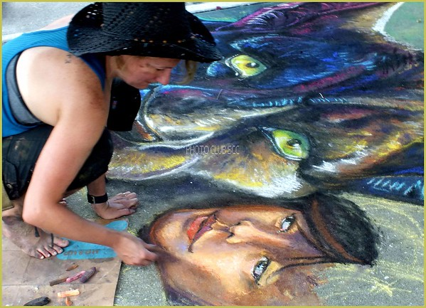 PRINT-COLOR-MASTER-SILVER-CHALK ART-PAT JONES
