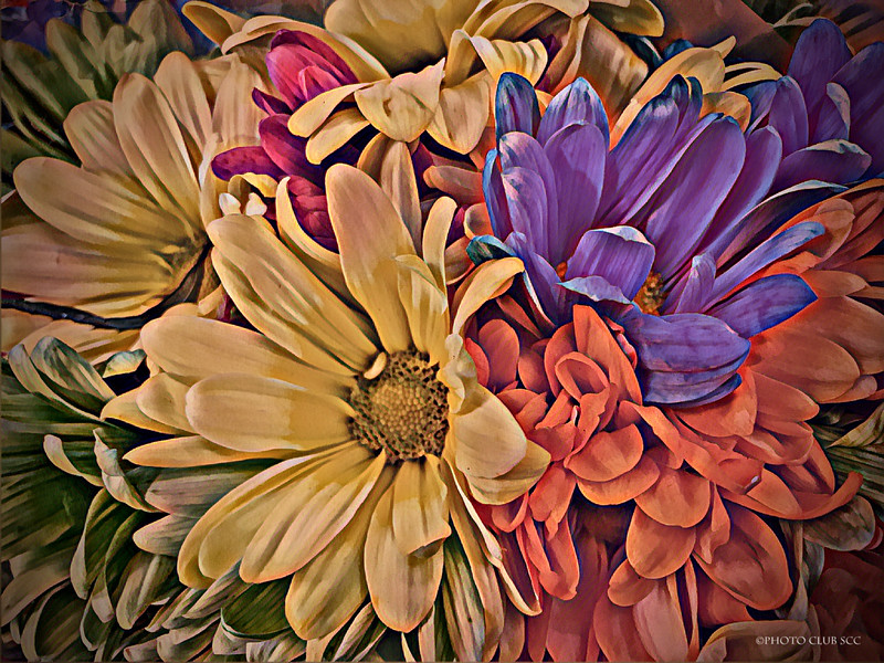 CREATIVE-DIGITAL- MASTER-GOLD-PASTEL FLOWERS-ROBERT MILLER