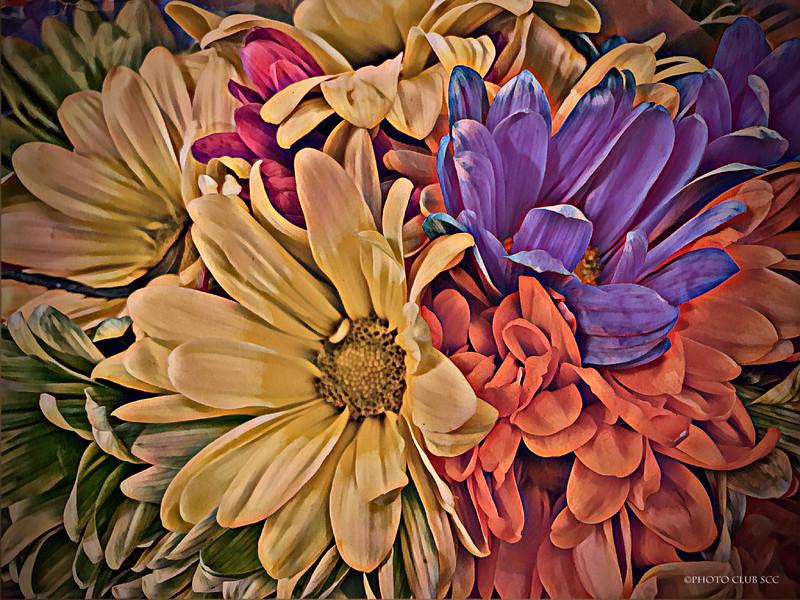 CREATIVE-DIGITAL- MASTER-GOLD-PASTEL FLOWERS-ROBERT MILLER