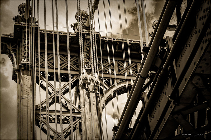 MONO DIGITAL-UNASSIGNED-GOLD-MANHATTAN BRIDGE-CHARLES DAVANZO