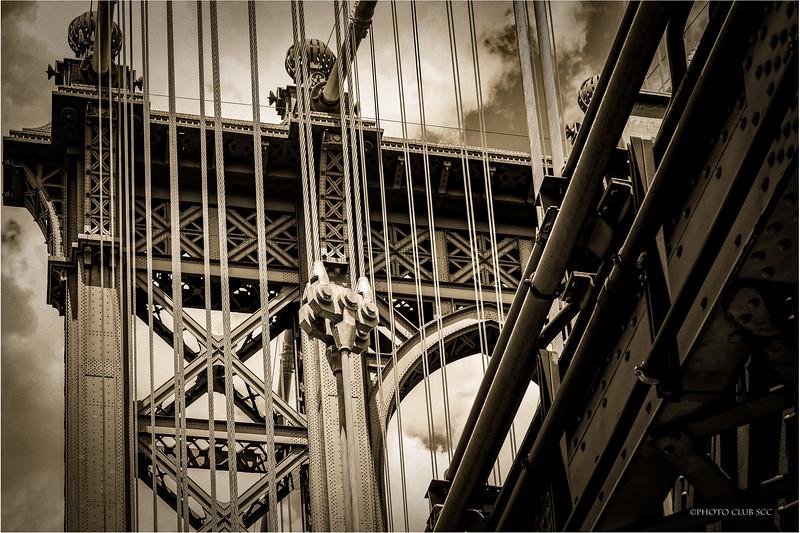 MONO DIGITAL-UNASSIGNED-GOLD-MANHATTAN BRIDGE-CHARLES DAVANZO