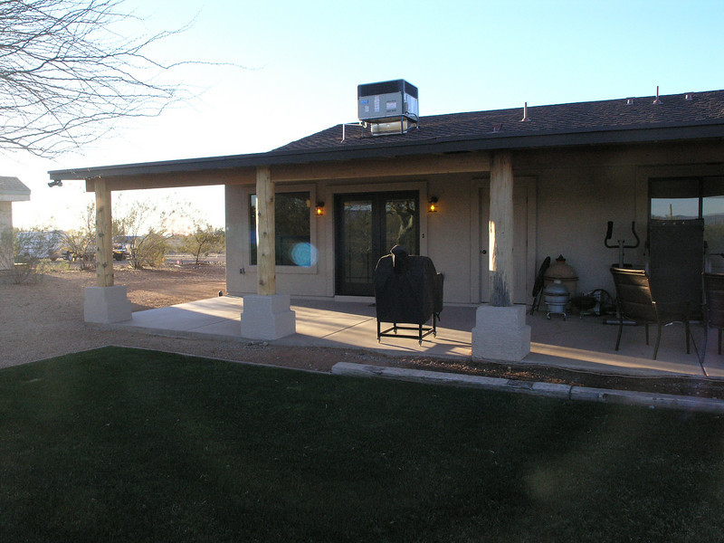 COMPLETED - ADDITION WITH COVERED PORCH - STUCCO MATCHED PERFECTLY