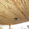 "CEILING FINISH  IS CONSTRUCTED FROM SOUTHWESTERN LATILLA STICKS WHICH ARE MADE FROM PINE OR SPRUCE ARE HAVE A DIAMETER OF 2"" TO 3""."