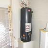 GAS WATER HEATER INSTALLED IN GARAGE
