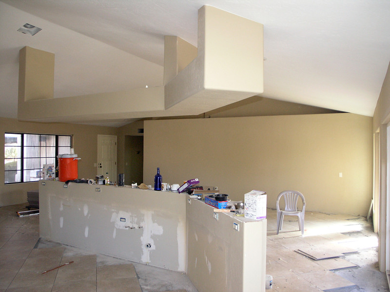 PROJECT COMING ALONG - FLOOR TILING IN PROGRESS