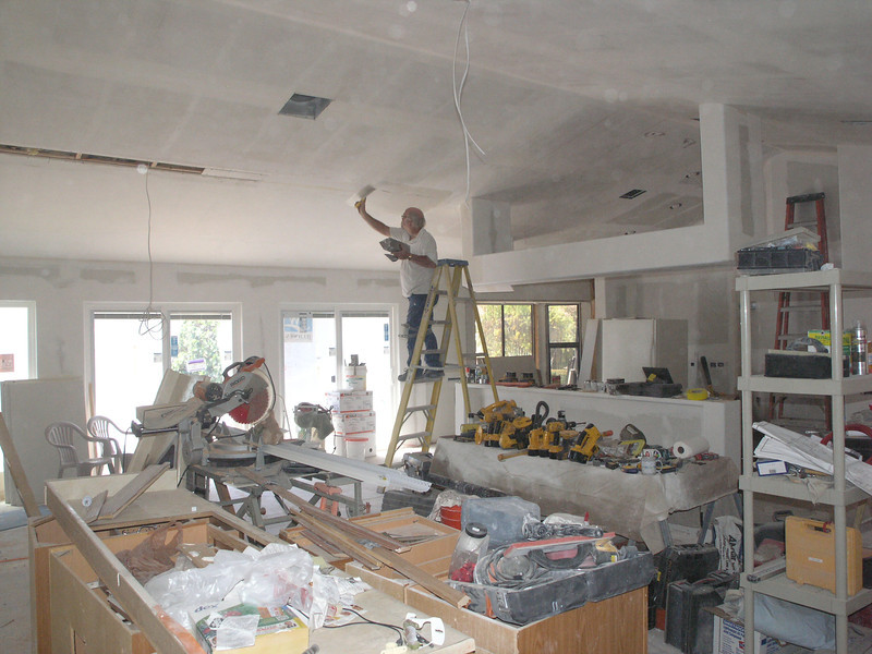 TAPING IN PROGRESS - SORRY FOR SOME DUST SPOTS - THERE'S ENOUGH TOOLS ON THIS JOB SITE!