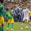 The 2017 CONCACAF Gold Cup, Group Stage, Match Day 6, Soccer game between Mexico and Jamaica at Sports Authority Field in Denver, Colorado.   Final score of the game was the Mexico - 0 and Jamaica - 0.